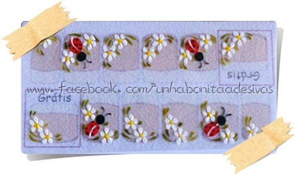 Armario Indoor Barato ~ Adesivo Artesanal Branco 12 Unha Bonita